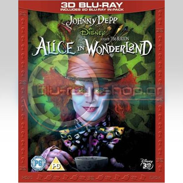 ALICE IN WONDERLAND 3D SUPERSET - � ����� ���� ���� ��� �������� 3D (BLU-RAY 3D + BLU-RAY 2D)