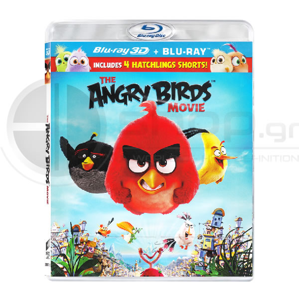 ANGRY BIRDS: THE MOVIE 3D - ANGRY BIRDS: Η ΤΑΙΝΙΑ 3D (BLU-RAY 3D + BLU-RAY) & ΜΕΤΑΓΛΩΤΤΙΣΜΕΝΟ ΣΤΑ ΕΛΛΗΝΙΚΑ