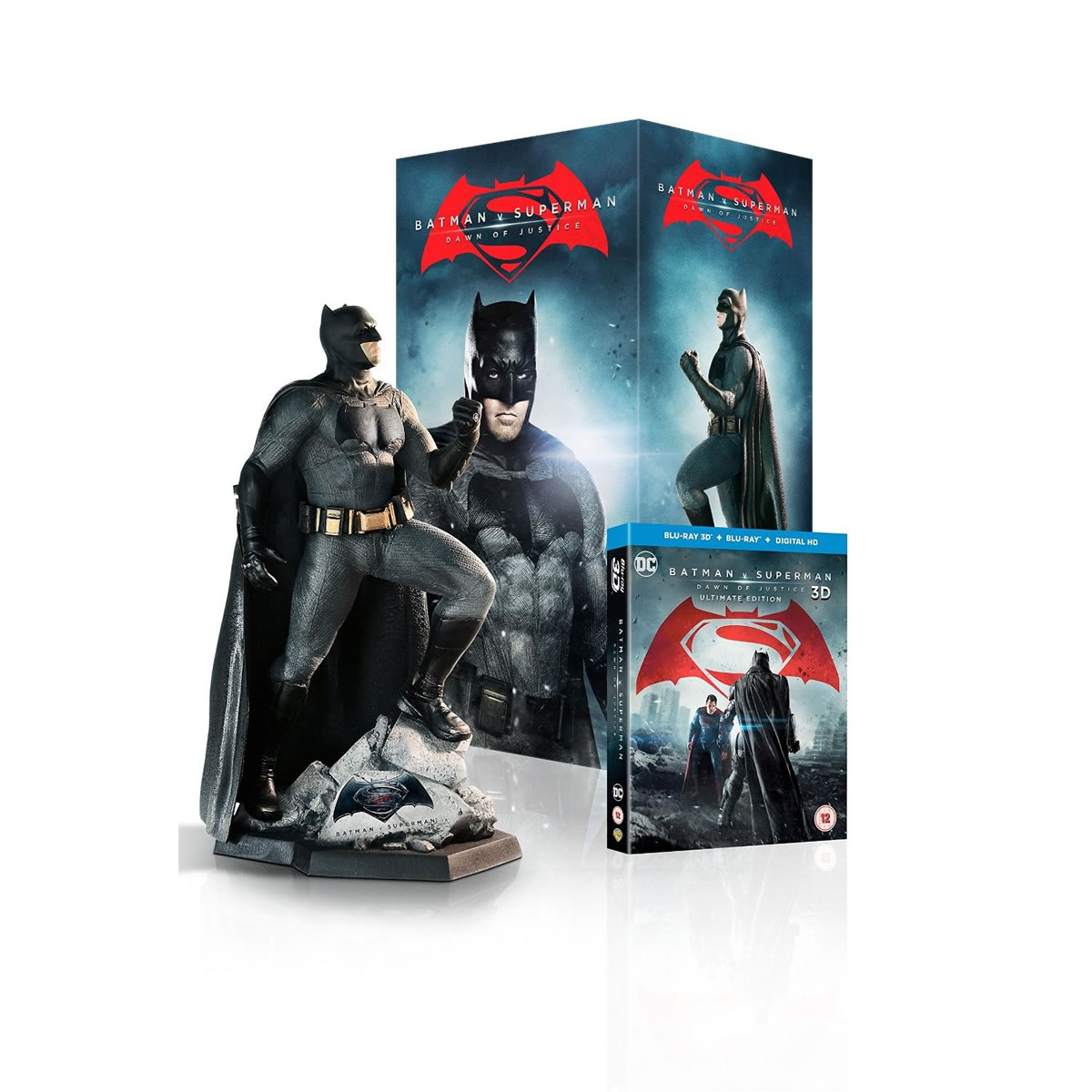 BATMAN V SUPERMAN: DAWN OF JUSTICE 3D Extended Unrated Cut ULTIMATE EDITION - BATMAN V SUPERMAN: � ���� ��� ����������� 3D Extended Unrated Cut ULTIMATE EDITION + Batman Statue Limited Collector's Edition (BLU-RAY 3D + BLU-RAY)