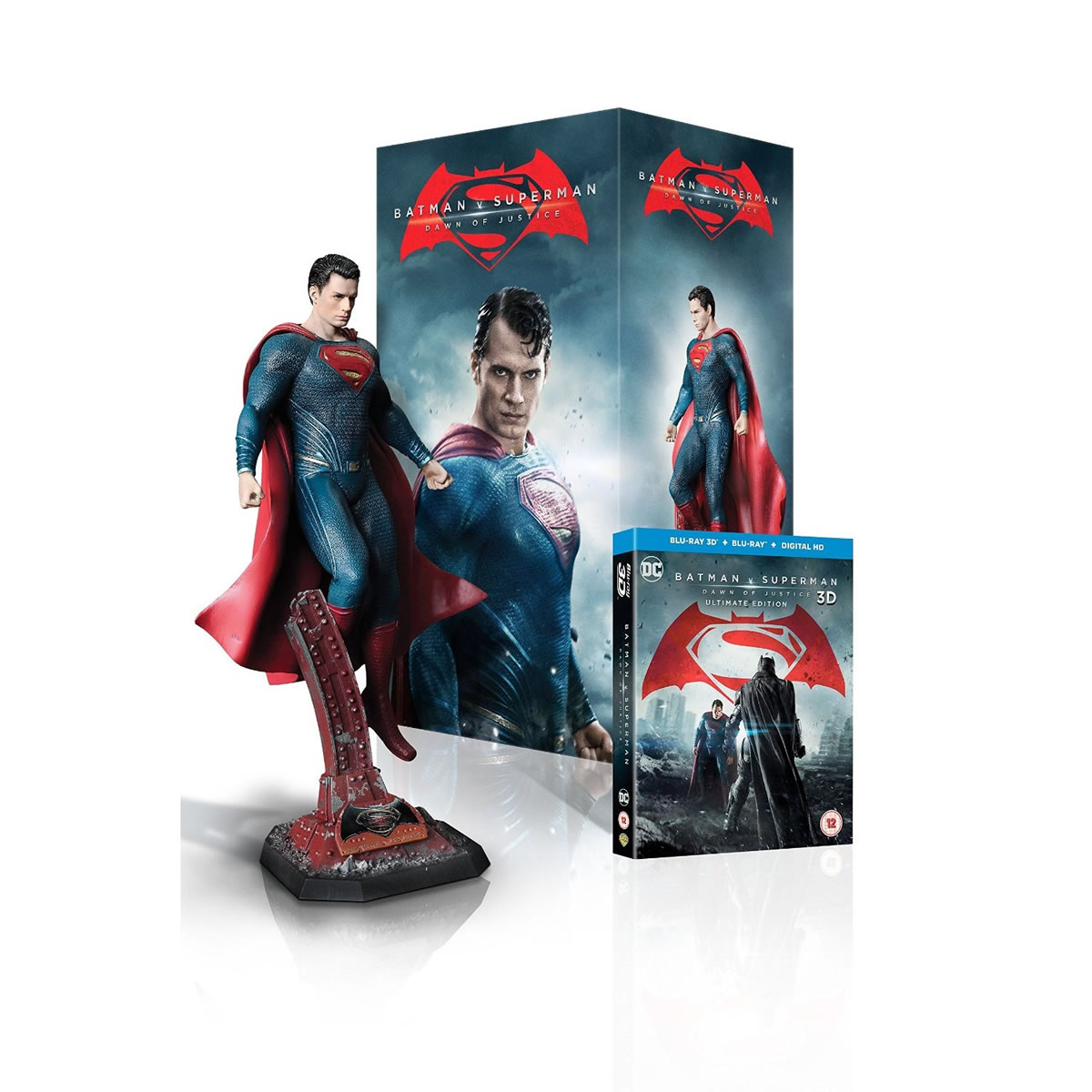 BATMAN V SUPERMAN: DAWN OF JUSTICE 3D Extended Unrated Cut ULTIMATE EDITION - BATMAN V SUPERMAN: � ���� ��� ����������� 3D Extended Unrated Cut ULTIMATE EDITION + Superman Statue Limited Collector's Edition (BLU-RAY 3D + BLU-RAY)