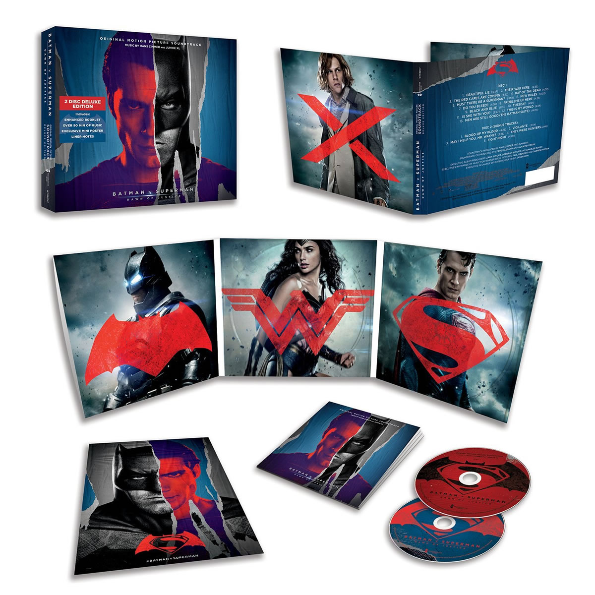 BATMAN V SUPERMAN: DAWN OF JUSTICE - THE ORIGINAL MOTION PICTURE SOUNDTRACK Deluxe Limited Edition (2 AUDIO CD)