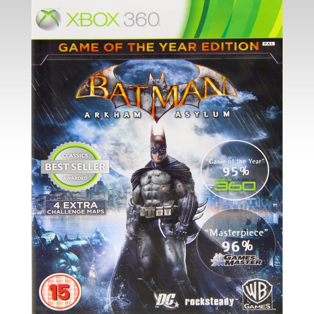 BATMAN ARKHAM ASYLUM GAME OF THE YEAR EDITION (XBOX 360)