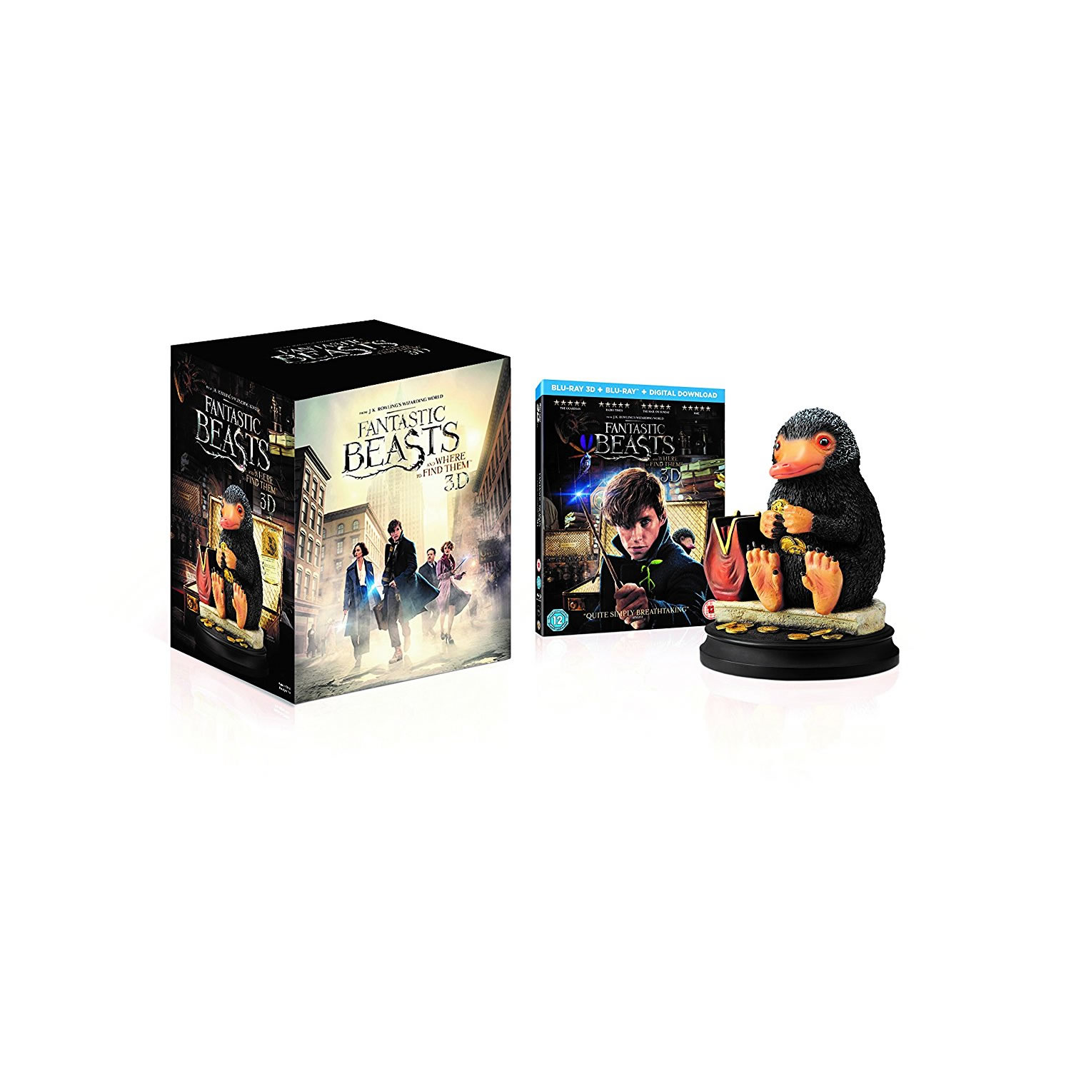 FANTASTIC BEASTS AND WHERE TO FIND THEM 3D + Niffler Statue Limited Collector's Edition (BLU-RAY 3D + BLU-RAY)