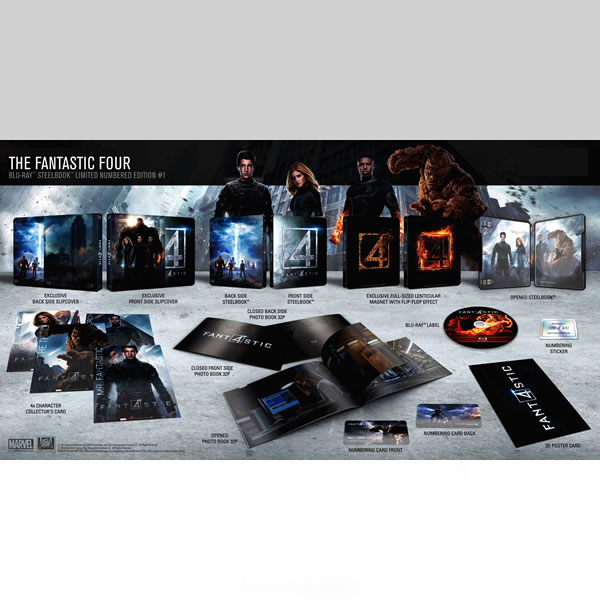 FANTASTIC FOUR [2015] Limited Collector's Numbered Edition Steelbook + PHOTOBOOK (BLU-RAY)