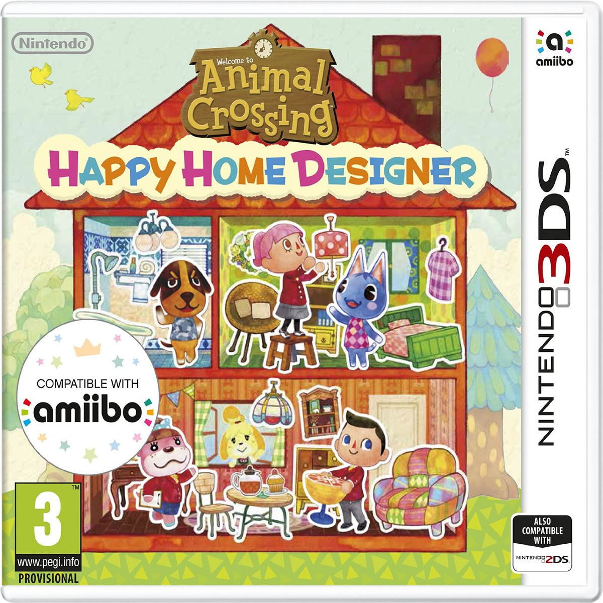 ANIMAL CROSSING HAPPY HOME DESIGNER NOCARD (3DS, DS)