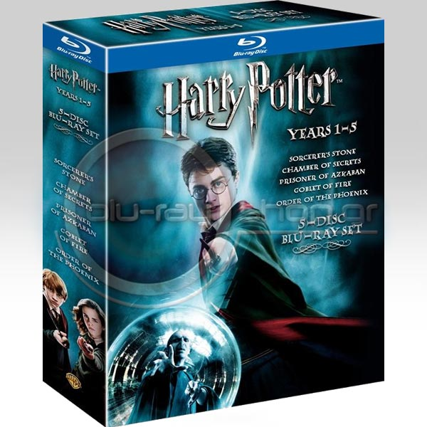 HARRY POTTER: YEARS 1-5 (5-DISC BLU-RAY BOX SET) - Ο ΧΑΡΙ ΠΟΤΕΡ: ΕΤΗ 1-5 (5-DISC BLU-RAY BOX SET)