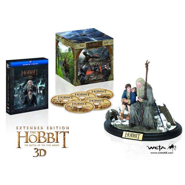 THE HOBBIT: THE BATTLE OF THE FIVE ARMIES 3D Extended Edition - ΧΟΜΠΙΤ: Η ΜΑΧΗ ΤΩΝ ΠΕΝΤΕ ΣΤΡΑΤΩΝ 3D Extended Edition + BILBO & GANDALF FIGURE Limited Collector's Edition [Εισαγωγής ΜΕ ΕΛΛΗΝΙΚΟΥΣ ΥΠΟΤΙΤΛΟΥΣ σε 3D] (2 BLU-RAY 3D + 3 BLU-RAY)