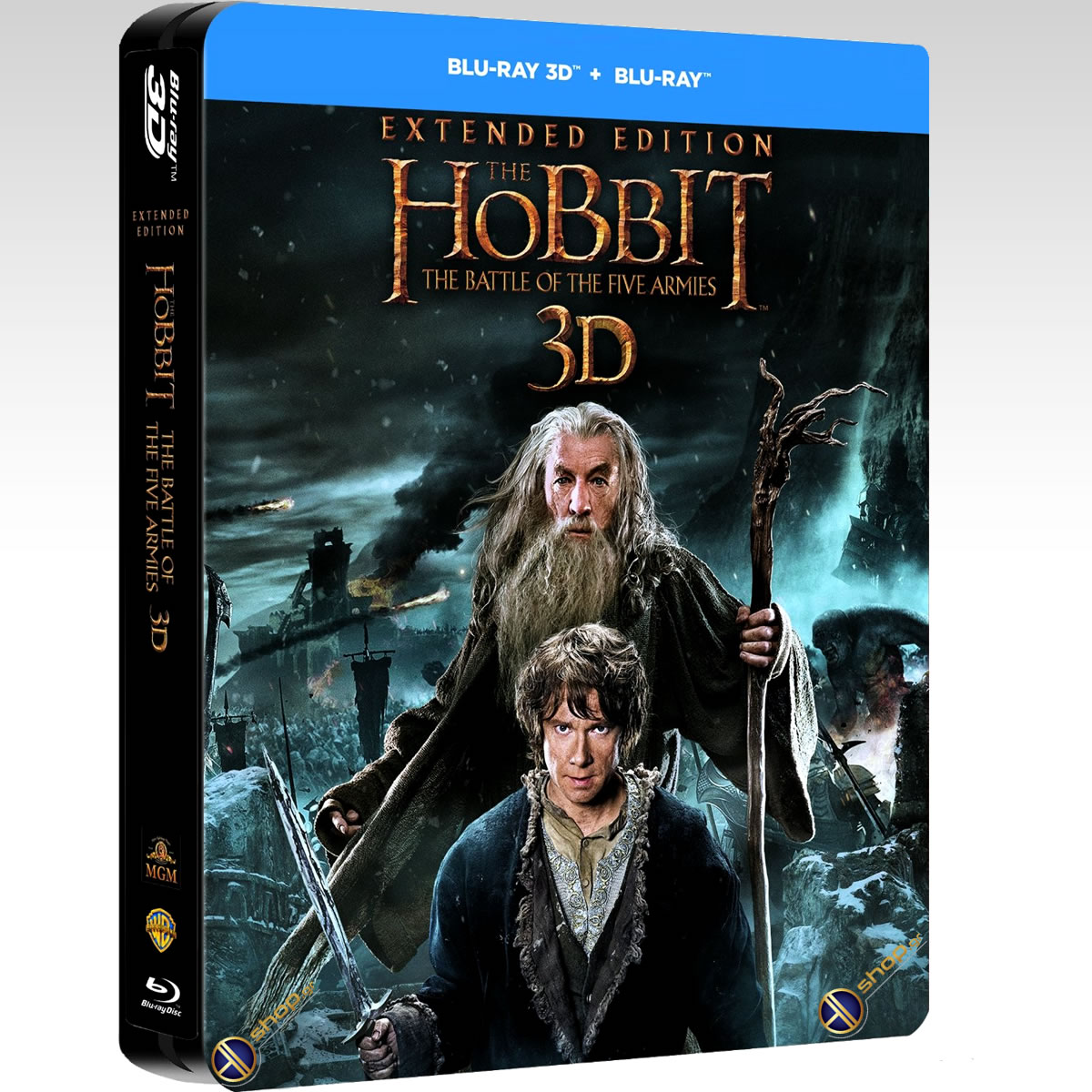 THE HOBBIT: THE BATTLE OF THE FIVE ARMIES 3D Extended Edition - ΧΟΜΠΙΤ: Η ΜΑΧΗ ΤΩΝ ΠΕΝΤΕ ΣΤΡΑΤΩΝ 3D Extended Edition STEELBOOK [ΕΛΛΗΝΙΚΟ] (2 BLU-RAY 3D + 3 BLU-RAY)