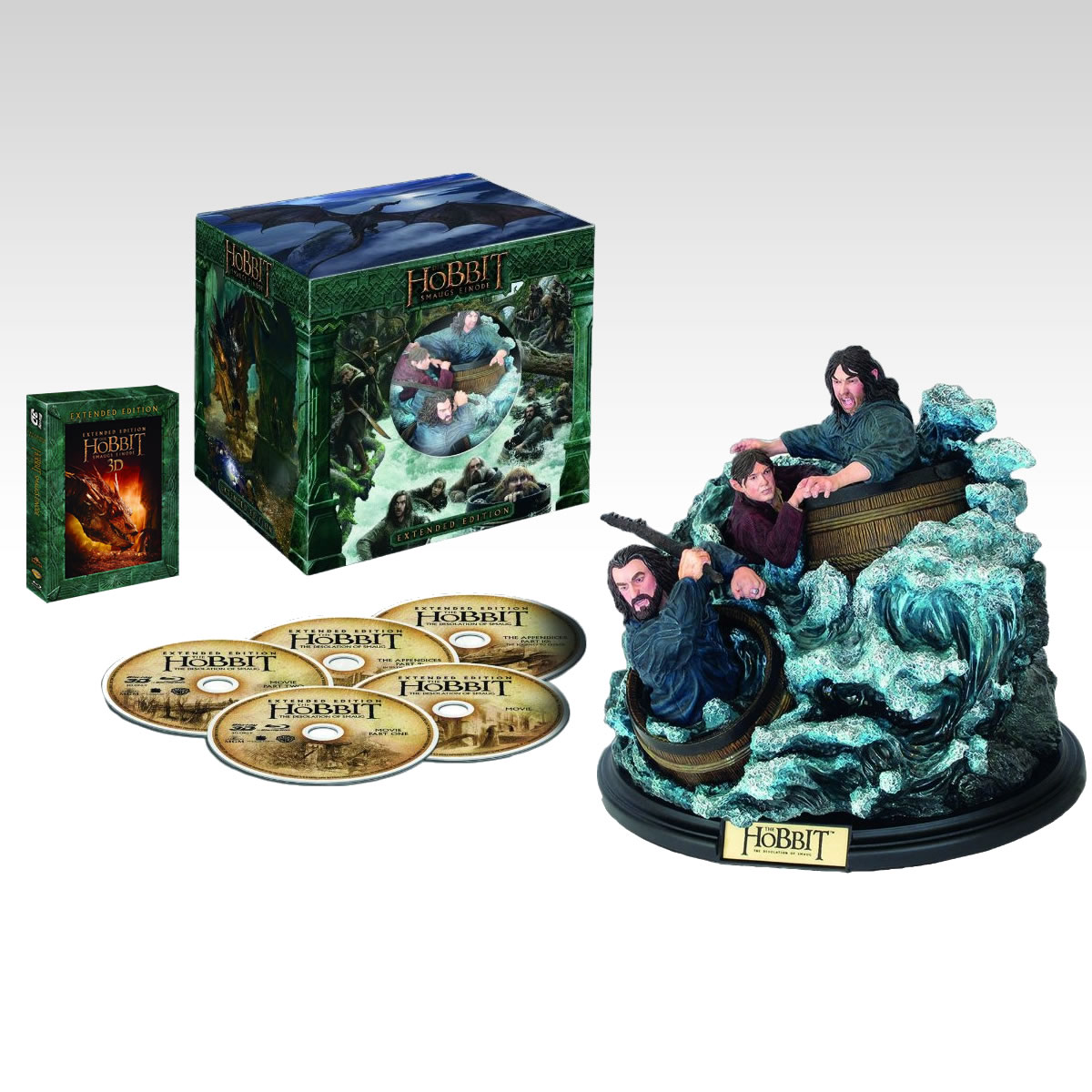 THE HOBBIT: THE DESOLATION OF SMAUG 3D Extended - ΧΟΜΠΙΤ: Η ΕΡΗΜΙΑ ΤΟΥ ΝΟΣΦΙΣΤΗ 3D Extended + BARREL RIDERS Limited Collector's Edition [Εισαγωγής ΜΕ ΕΛΛΗΝΙΚΟΥΣ ΥΠΟΤΙΤΛΟΥΣ] (2 BLU-RAY 3D + 3 BLU-RAY)