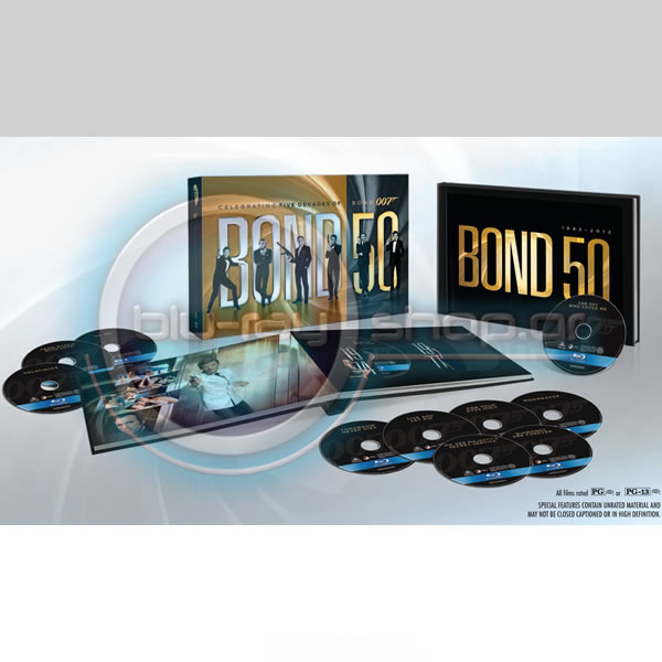 JAMES BOND 50 YEARS ANNIVERSARY - 22 FILMs LIMITED EDITION BOX SET (23 BLU-RAYs)