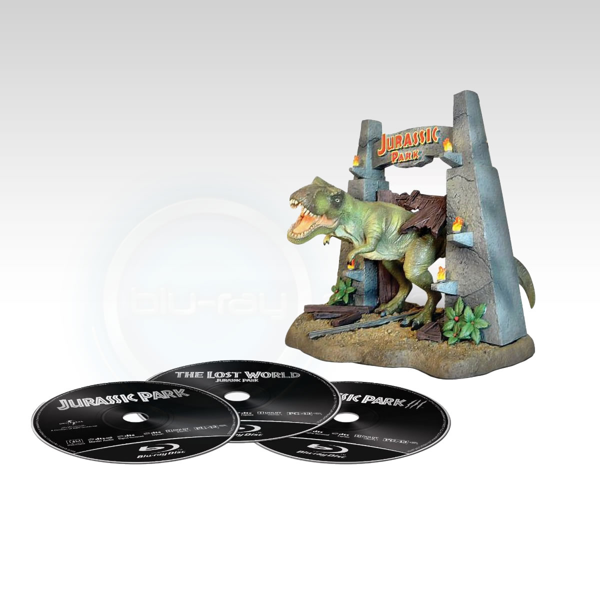 JURASSIC PARK TRILOGY - BOXSET WITH FIGURINE T-REX Limited Collector's Edition [��������� �� ���������� ����������] (3 BLU-RAYs)