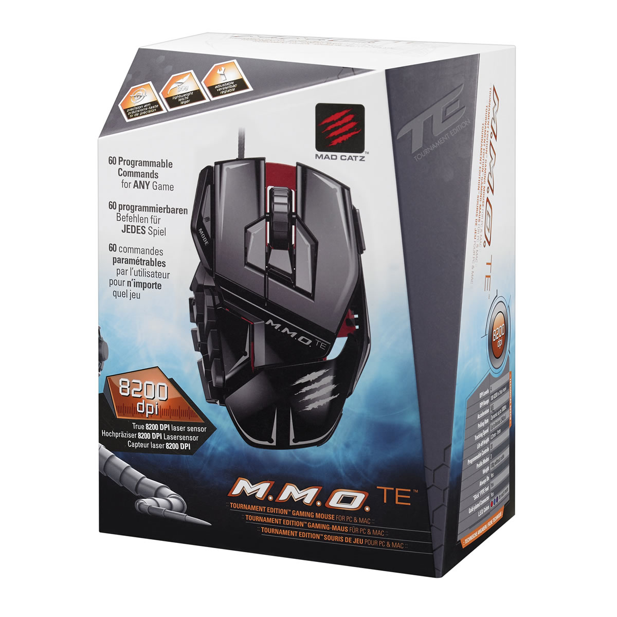 MAD CATZ CYBORG MMO TE Tournament Edition GAMING MOUSE - GLOSS BLACK (PC)