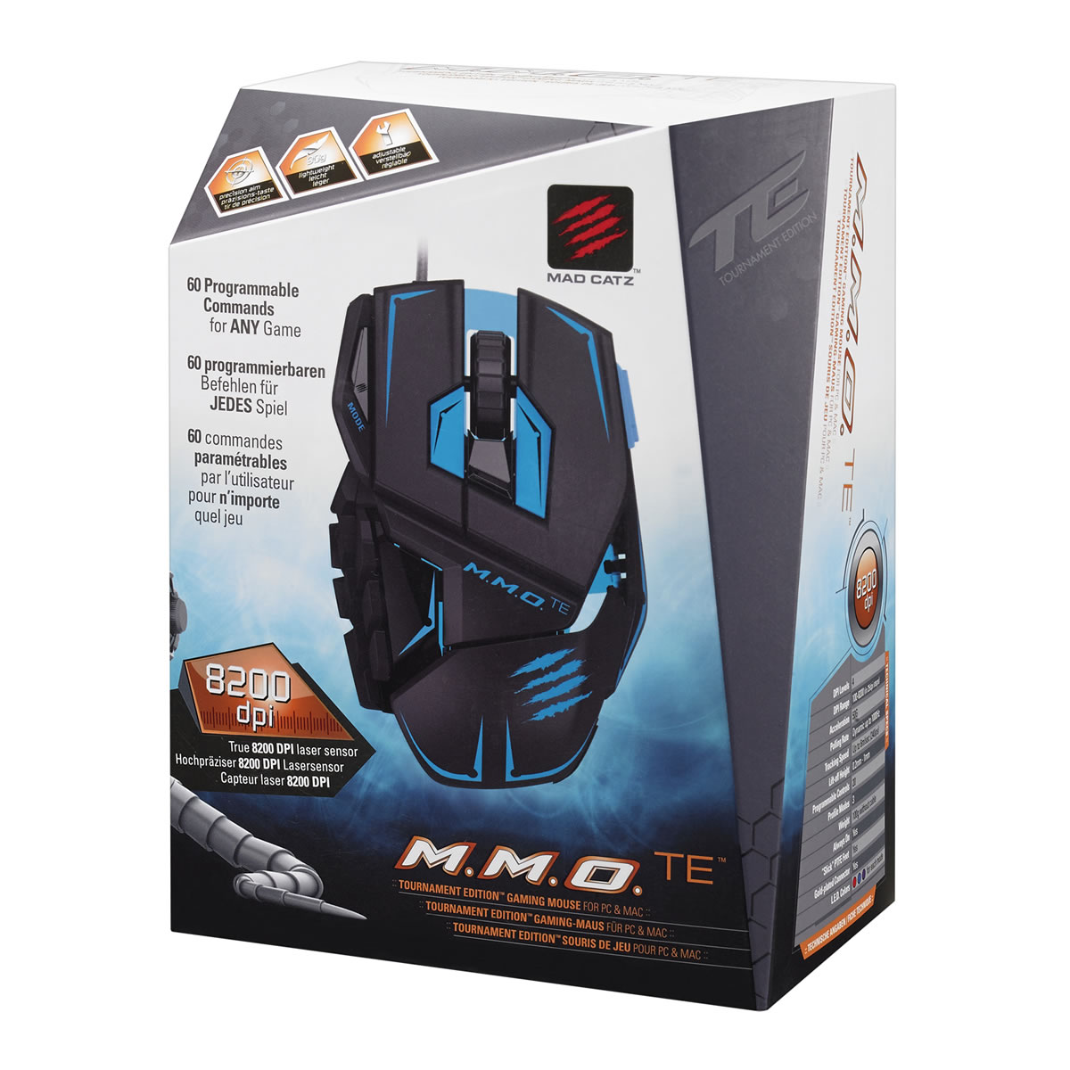 MAD CATZ CYBORG MMO TE Tournament Edition GAMING MOUSE - MATTE BLACK (PC)