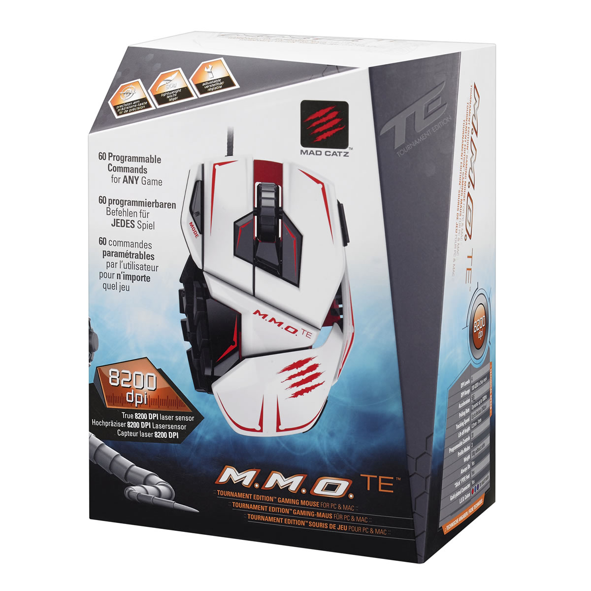 MAD CATZ CYBORG MMO TE Tournament Edition GAMING MOUSE - WHITE (PC)