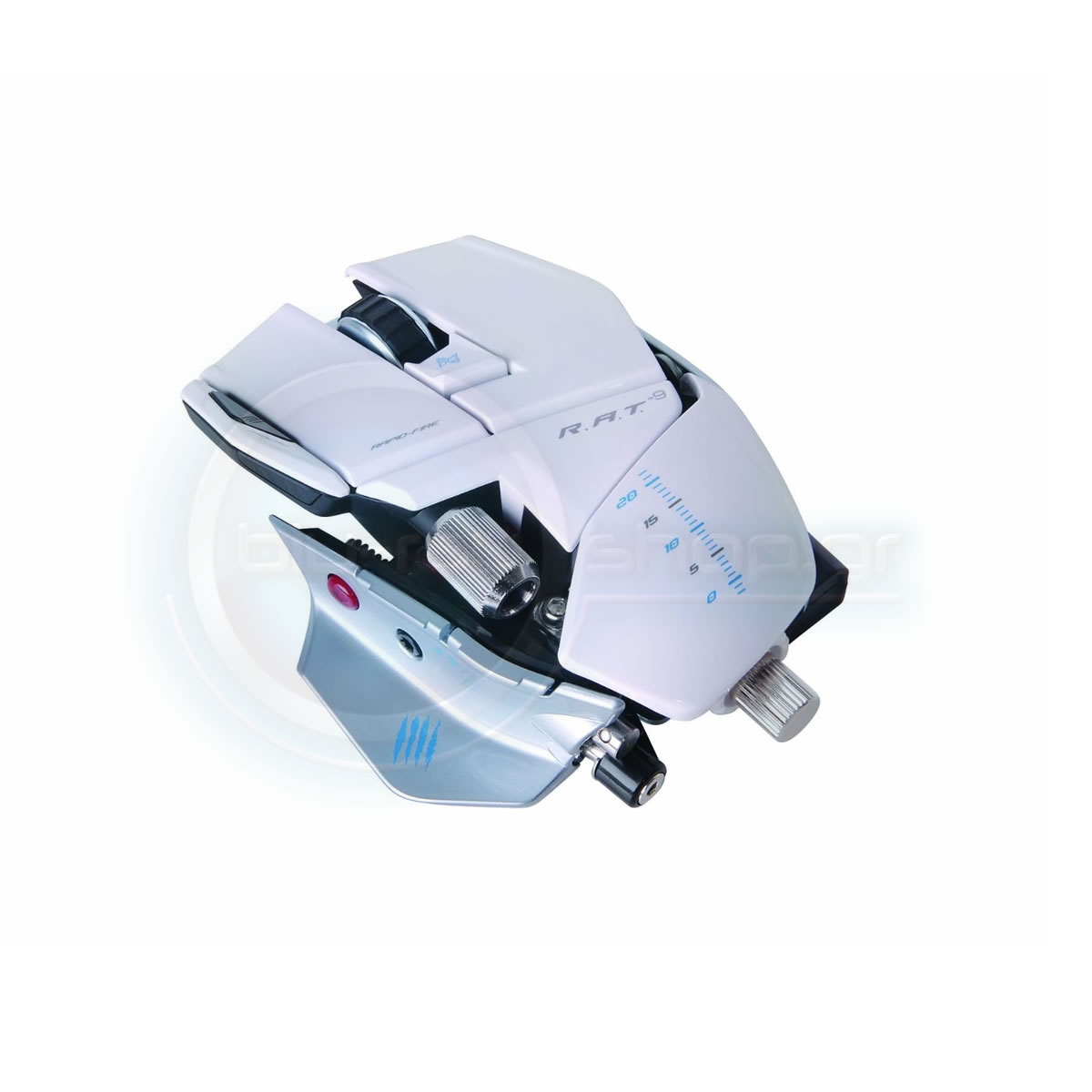 MAD CATZ CYBORG RAT 9 WIRELESS GAMING MOUSE - WHITE (PC)