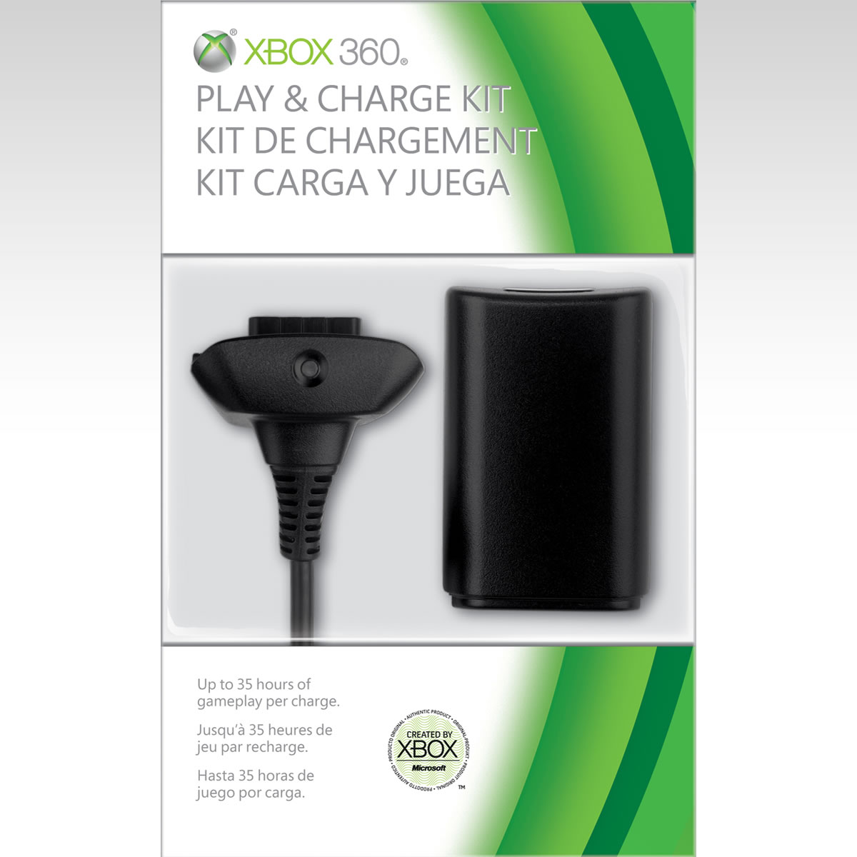 MICROSOFT OFFICIAL XBOX 360 PLAY & CHARGE KIT Black - MICROSOFT ΕΠΙΣΗΜΟ XBOX 360 PLAY & CHARGE KIT ΜΑΥΡΟ (XBOX 360)