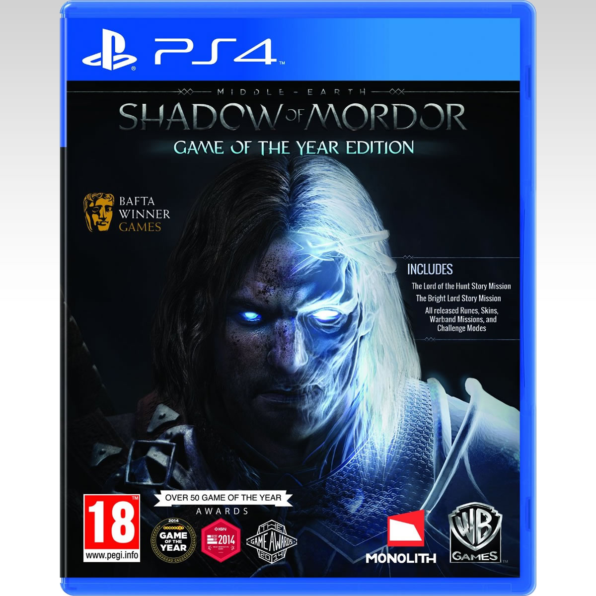 MIDDLE EARTH: SHADOW OR MORDOR - GAME OF THE YEAR EDITION (PS4)