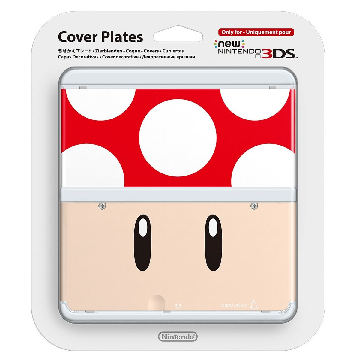 NEW NINTENDO 3DS COVERPLATE 007 Red Toad (New 3DS)