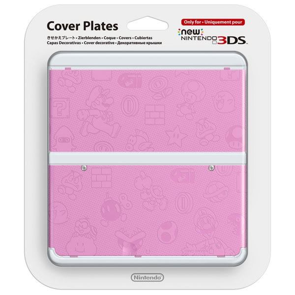NEW NINTENDO 3DS COVERPLATE 011 Super Mario Pink (New 3DS)