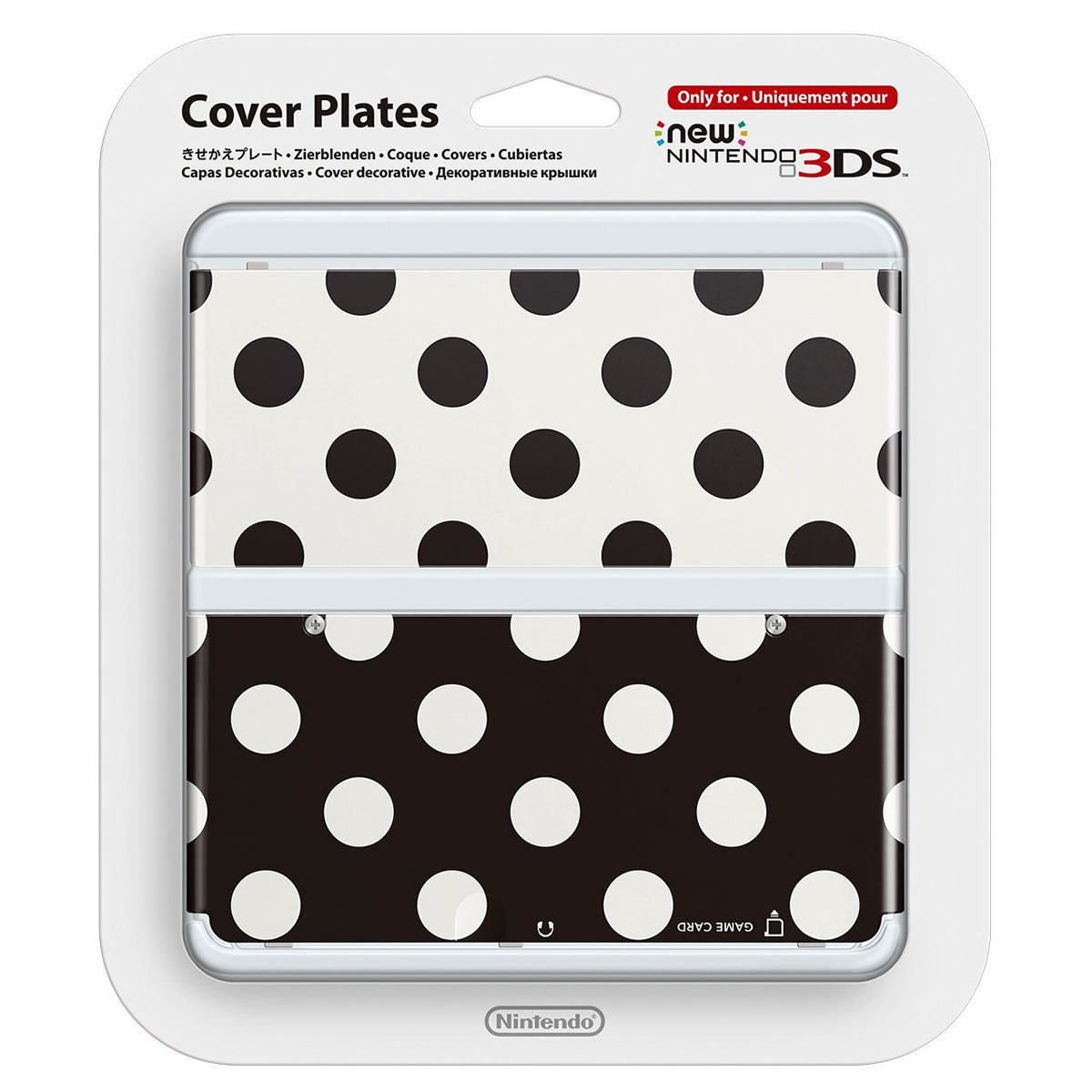 NEW NINTENDO 3DS COVERPLATE 015 Black White Poker Dot (New 3DS)