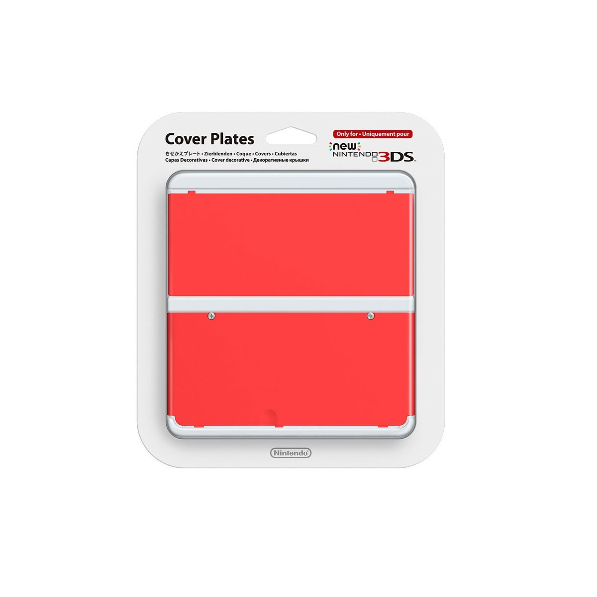 NEW NINTENDO 3DS COVERPLATE 018 Red - ΚΟΚΚΙΝΟ (New 3DS)