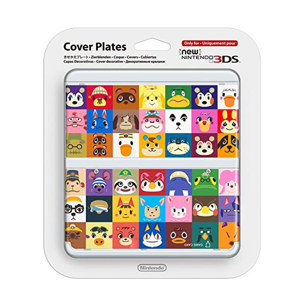 NEW NINTENDO 3DS COVERPLATE 027 Animal Chrossing Multi Character (New 3DS)