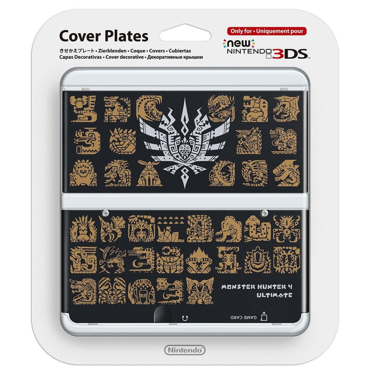 NEW NINTENDO 3DS COVERPLATE Monster Hunter 4 Ultimate Black (New 3DS)