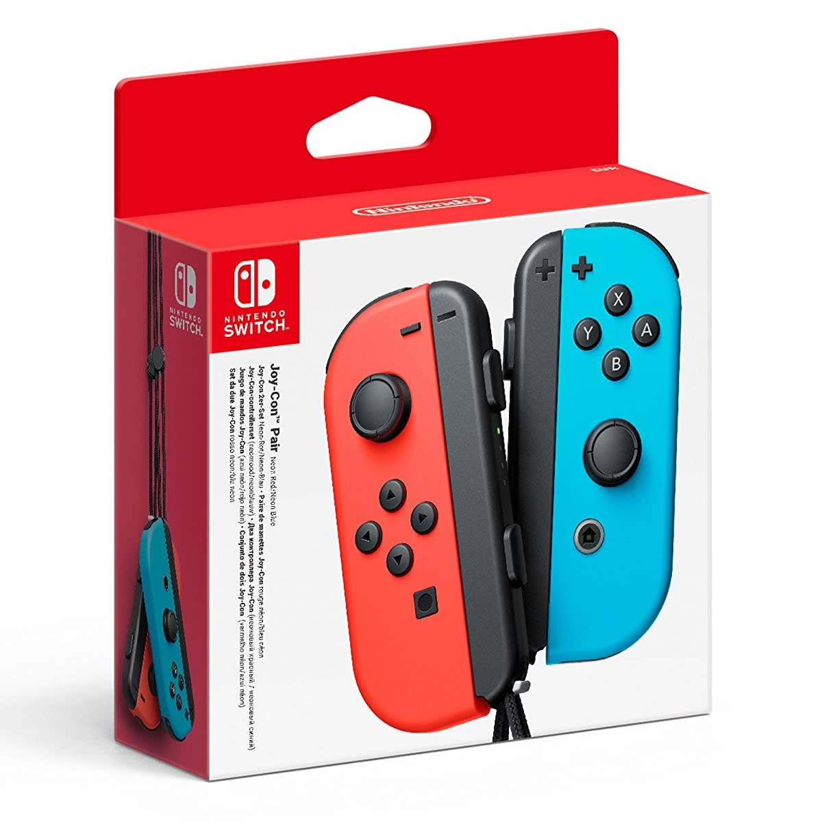 NINTENDO SWITCH JOY-CON PAIR NEON RED/NEON BLUE (NSW)