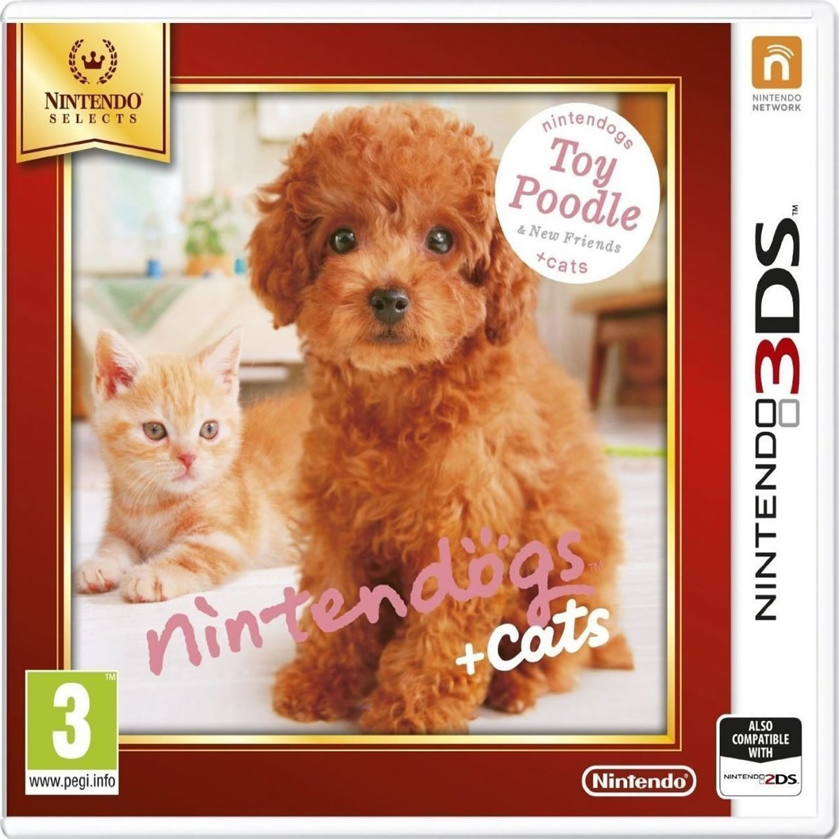 NINTENDOGS :PODDLE & FRIENDS - SELECTS (3DS, 2DS)