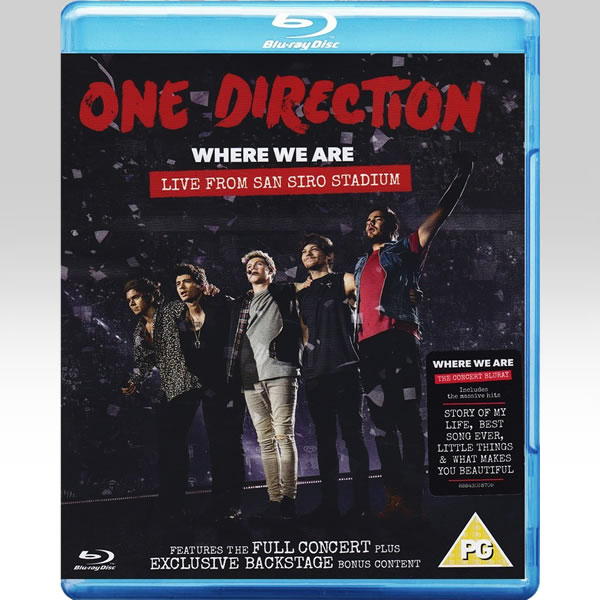 1D ONE DIRECTION: WHERE WE ARE: LIVE FROM SAN SIRO STADIUM (BLU-RAY)