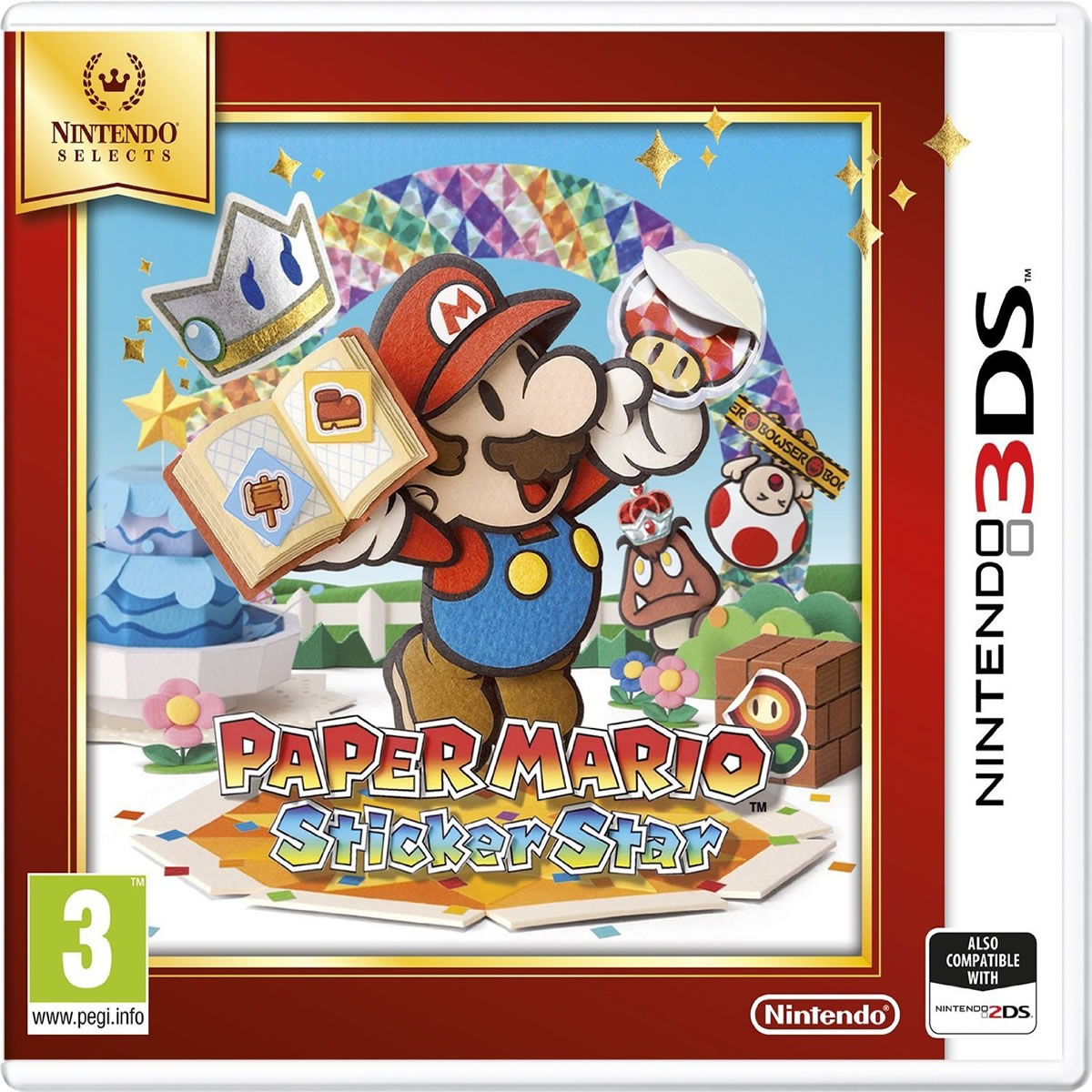 PAPER MARIO STICKER STAR - SELECTS (3DS, DS)