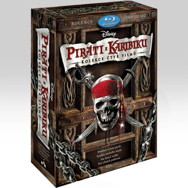 PIRATES OF THE CARIBBEAN 1-4 Collection - �� �������� ��� ���������� 1-4 Collection [��������� �� ���������� ����������] (4 BLU-RAYs)