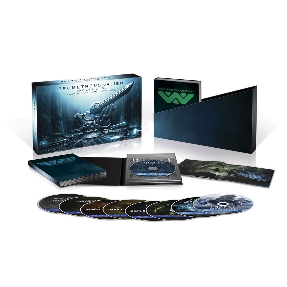 PROMETHEUS TO ALIEN - THE EVOLUTION - Limited Edition ������������ [��������� �� ���������� ����������] (BLU-RAY 3D + 8 BLU-RAY)