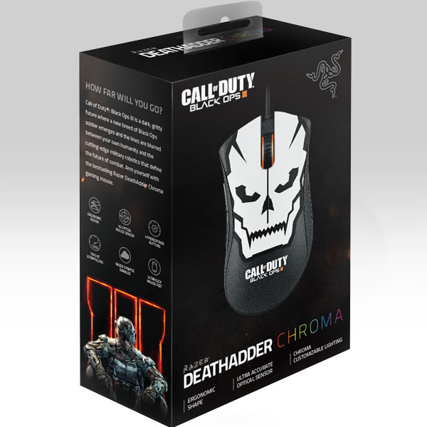 RAZER - CALL OF DUTY: BLACK OPS III DEATHADDER CHROMA GAMING MOUSE (PC, MAC)