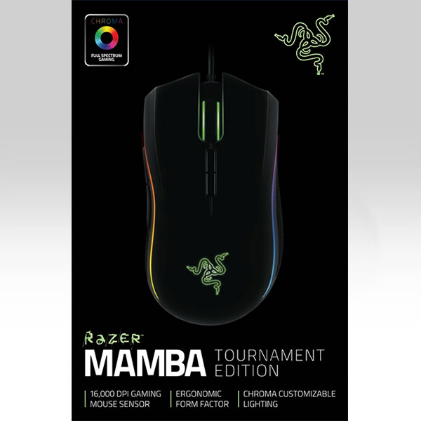 RAZER - MAMBA 16000 TOURNAMENT EDITION ERGONOMIC GAMING MOUSE RZ01-01370100-R3G1 (PC, MAC)