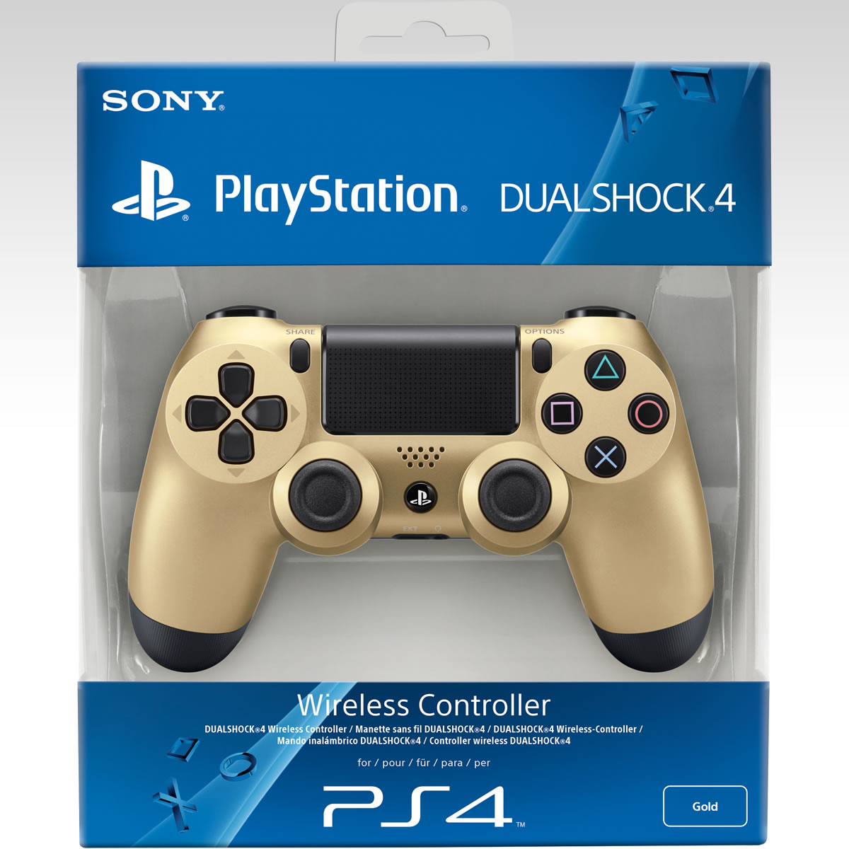 SONY OFFICIAL WIRELESS CONTROLLER DUALSHOCK 4 Gold Collector's Edition - SONY ������� �������� ����������� DUALSHOCK 4 ����� ���������� ������ (PS4)
