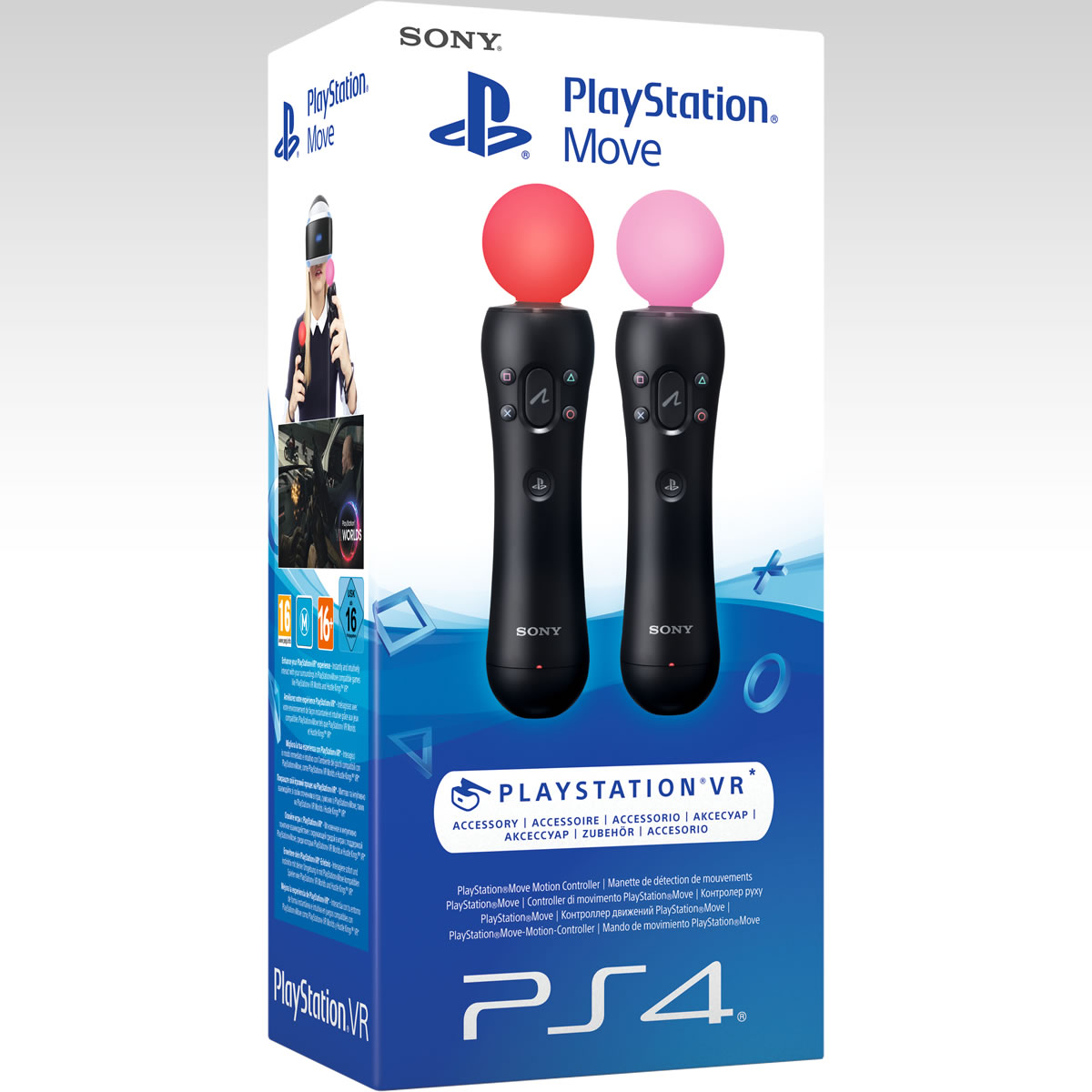 SONY OFFICIAL PLAYSTATION MOVE - MOTION CONTROLLER Twin Pack PS719882756 (PS4, PSVR)