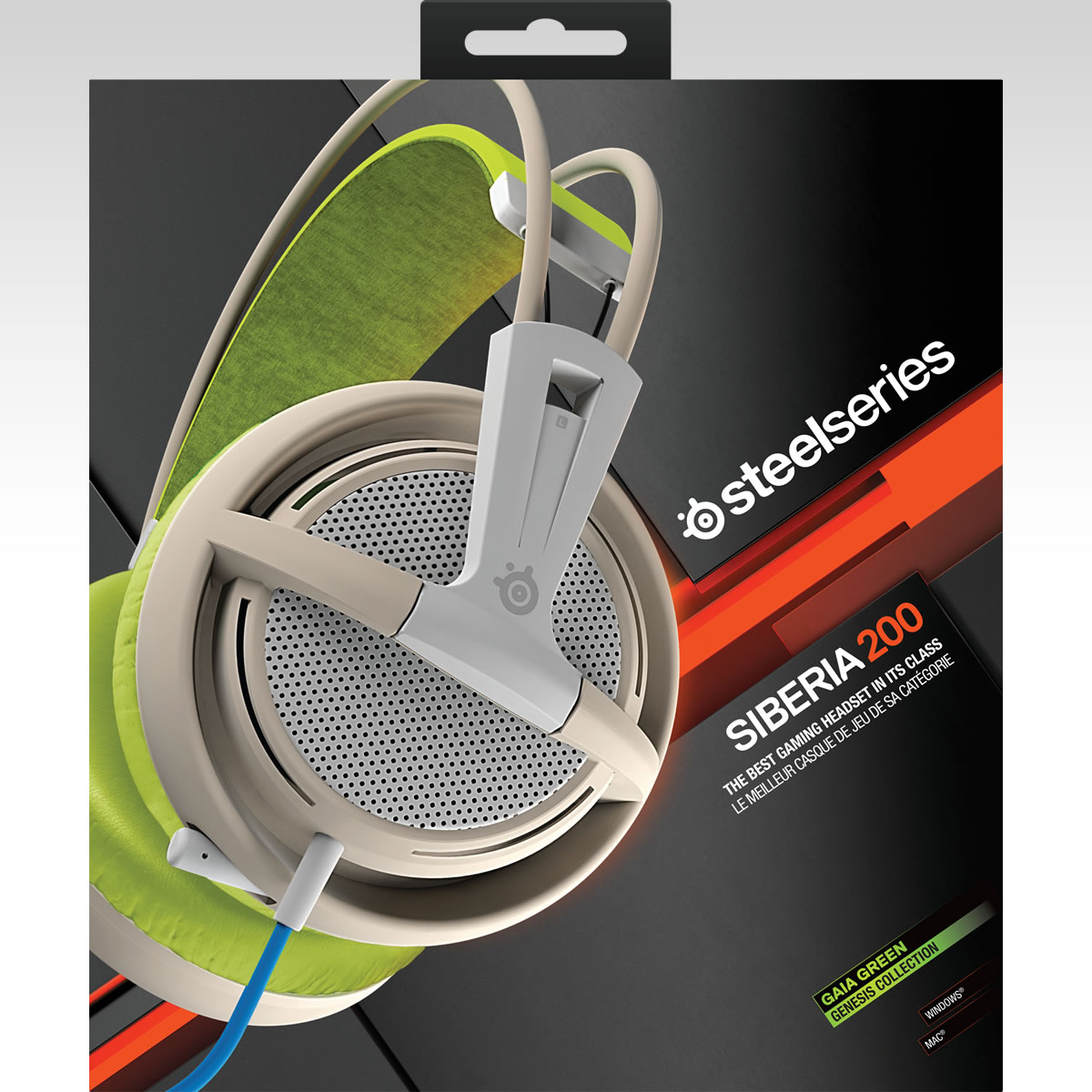 STEELSERIES - HEADSET SIBERIA 200 GAIA GREEN 51137 (PC, Mac, PS4, Mobile)