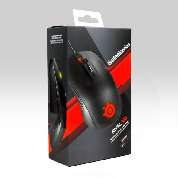 STEELSERIES - MOUSE RIVAL 100 BLACK 62341 (PC, Mac)