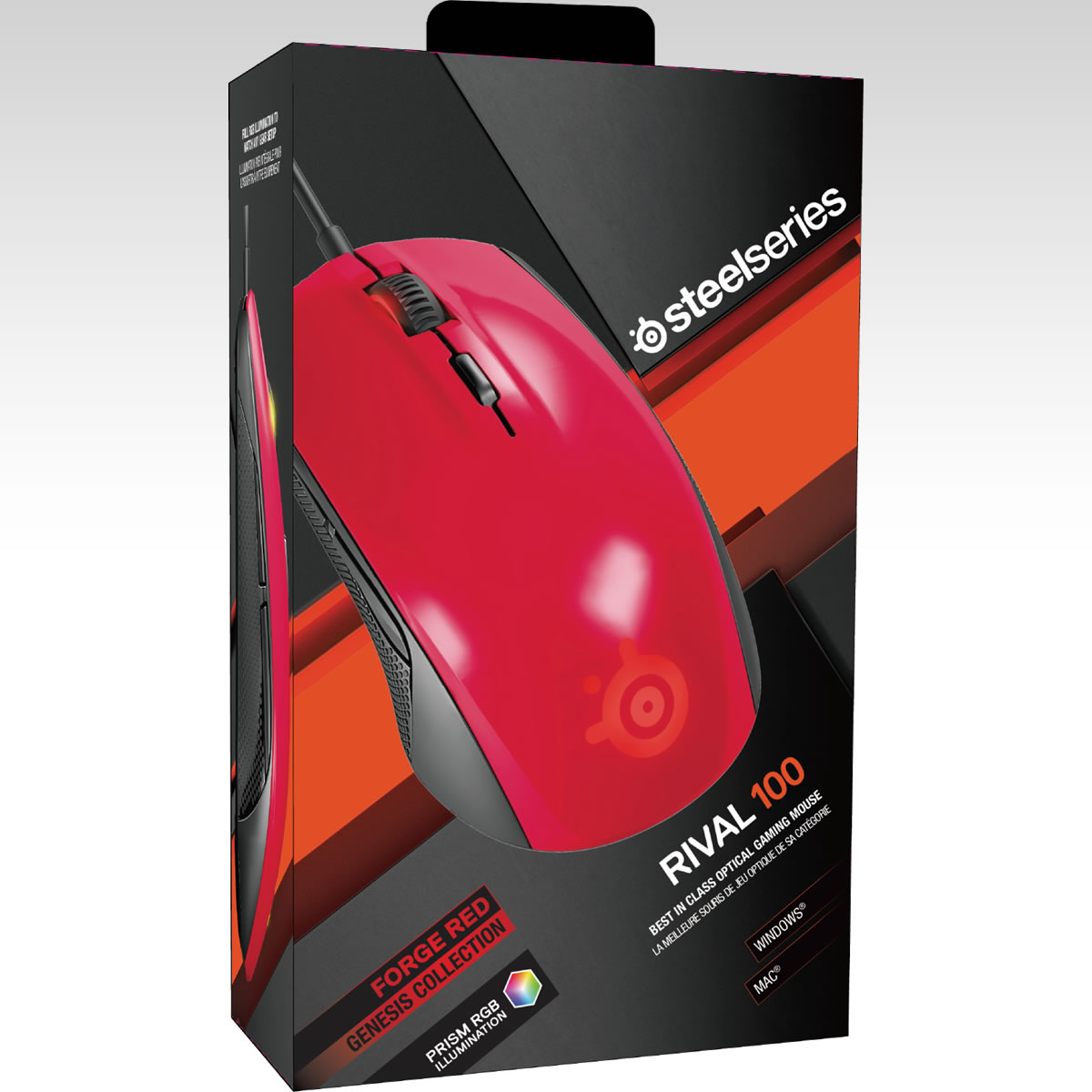 STEELSERIES - MOUSE RIVAL 100 FORGED RED 62337 (PC, Mac)