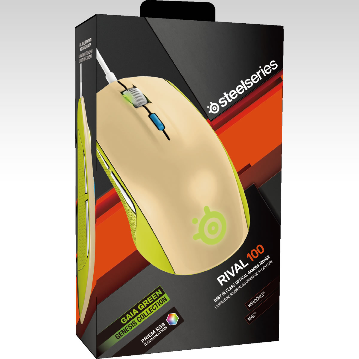 STEELSERIES - MOUSE RIVAL 100 GAIA GREEN 62339 (PC, Mac)