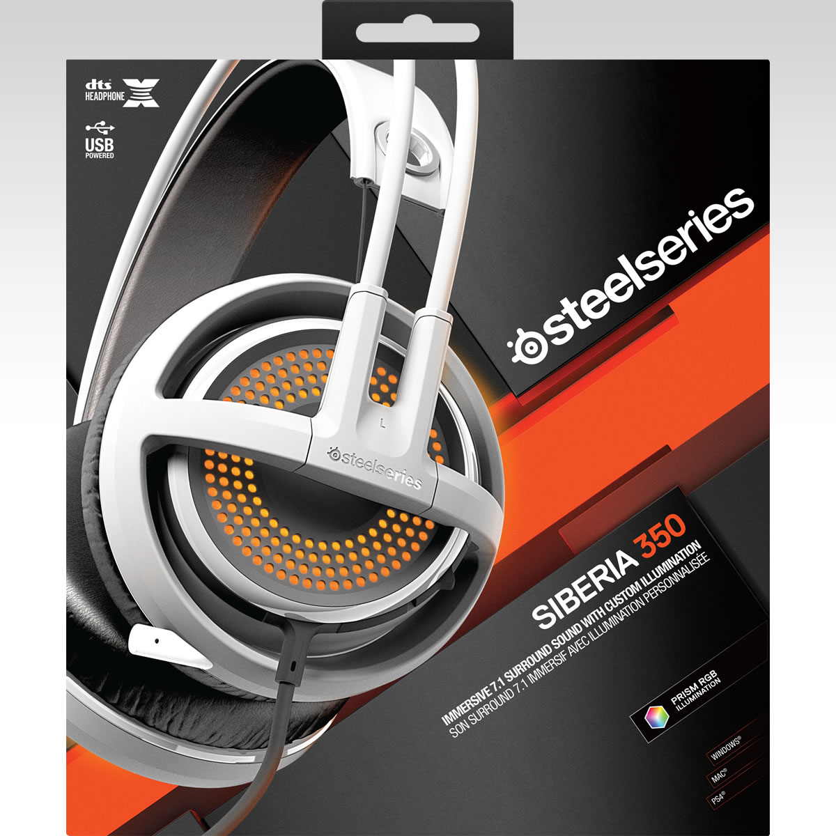 STEELSERIES - HEADSET SIBERIA 350 WHITE 51204 (PC, Mac, PS4)