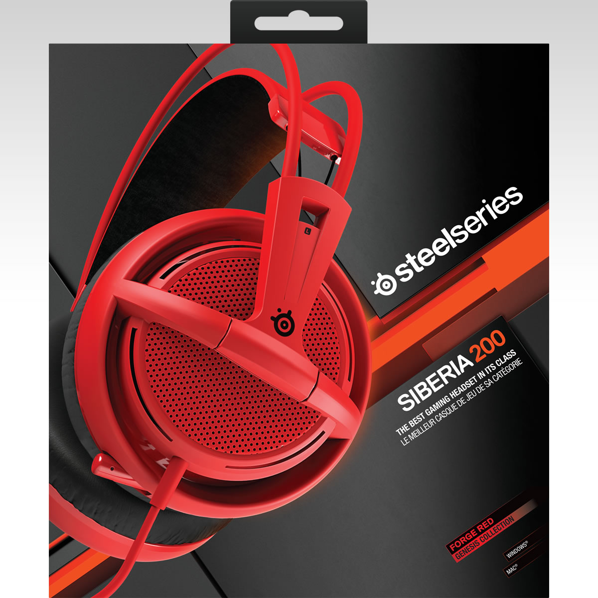 STEELSERIES - HEADSET SIBERIA 200 FORGED RED 51135 (PC, Mac, PS4, Mobile)