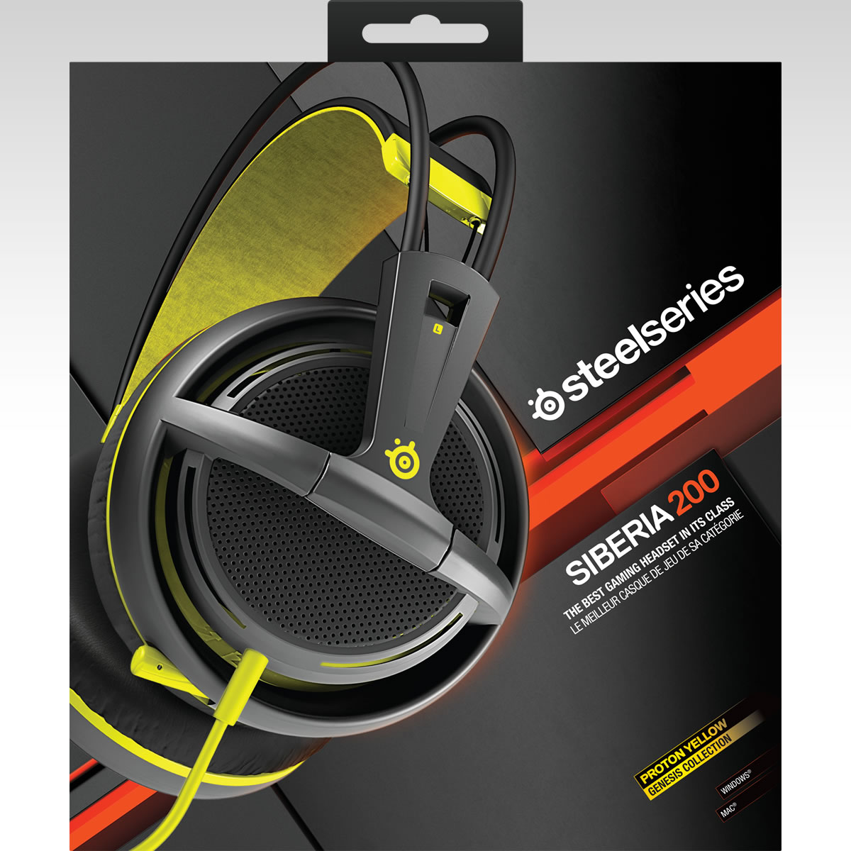 STEELSERIES - HEADSET SIBERIA 200 PROTON YELLOW 51138 (PC, Mac, PS4, Mobile)