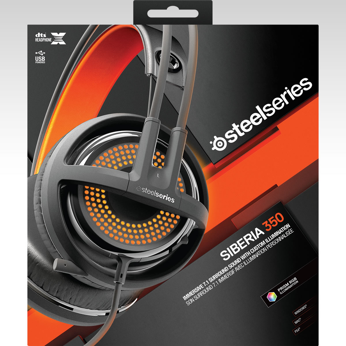 STEELSERIES - HEADSET SIBERIA 350 BLACK 51202 (PC, Mac, PS4)