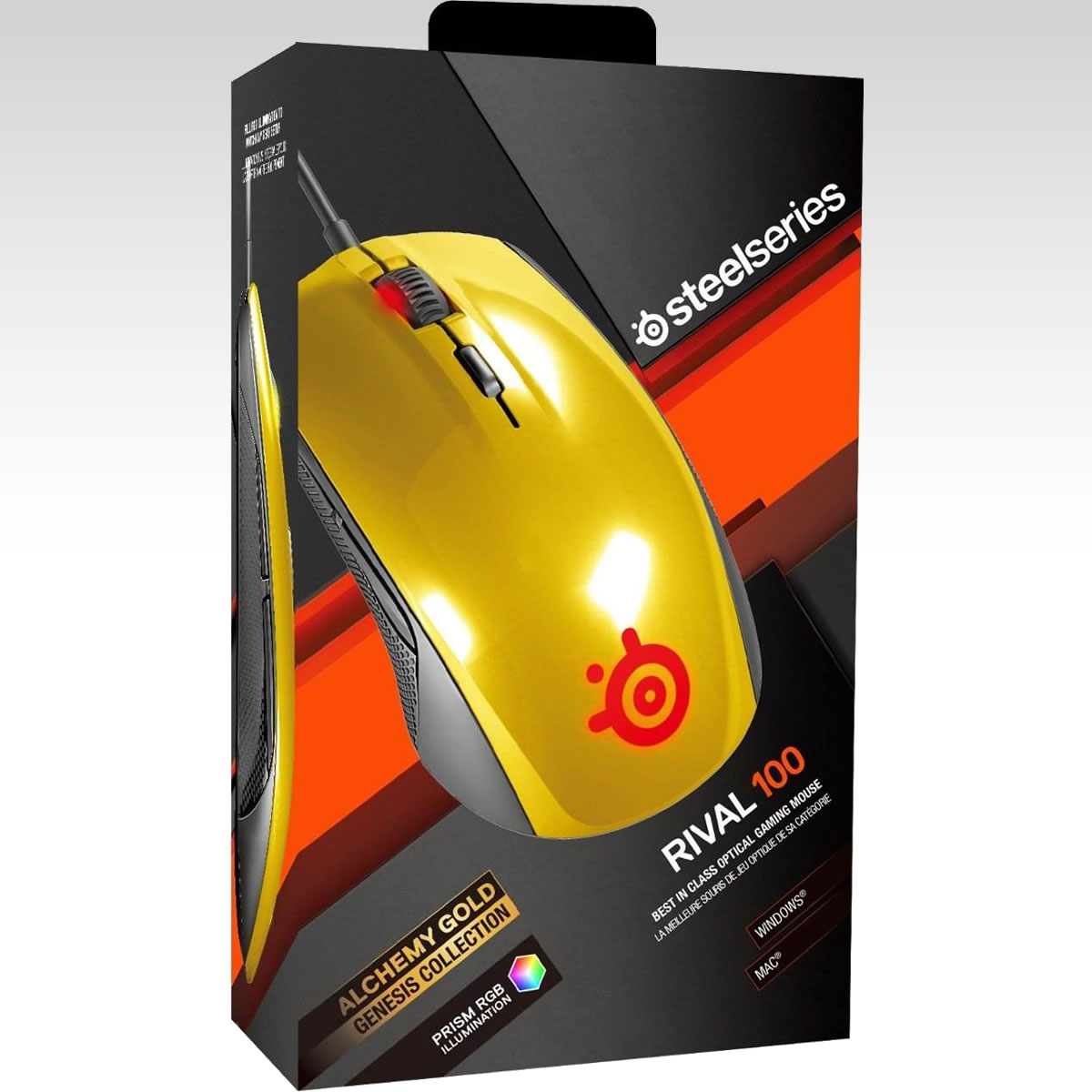 STEELSERIES - MOUSE RIVAL 100 ALCHEMY GOLD 62336 (PC, Mac)