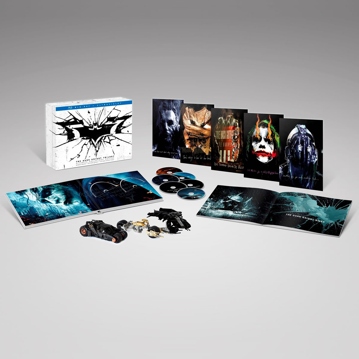 THE DARK KNIGHT TRILOGY + 3 �������� - Ultimate Collector's Limited Edition [��������� �� ���������� ����������] (6 BLU-RAY)