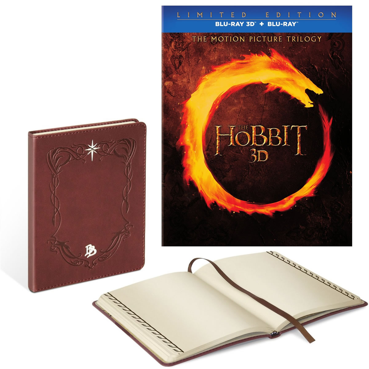 THE HOBBIT 3D: THE MOTION PICTURE TRILOGY + BILBO'S JOURNAL - ������ 3D: � �������� + ���������� Limited Collector's Edition [��������] (6 BLU-RAY 3D + 6 BLU-RAY)