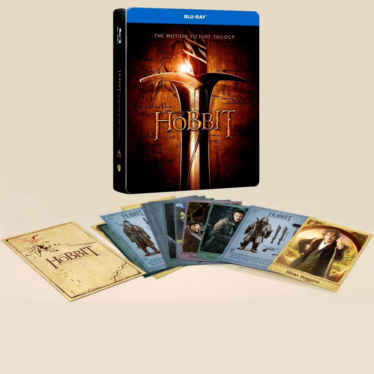 THE HOBBIT: THE MOTION PICTURE TRILOGY + 20x CHARACTER CARDS Limited Collector's Edition Steelbook [Imported] (6 BLU-RAYs)