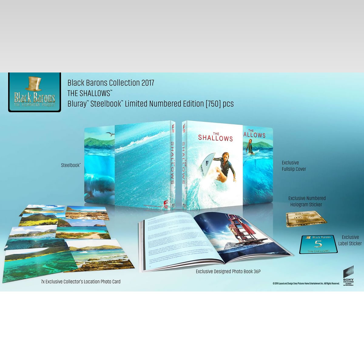 THE SHALLOWS - ΣΕ ΡΗΧΑ ΝΕΡΑ Limited Collector's Numbered Edition Steelbook + PHOTOBOOK (BLU-RAY)